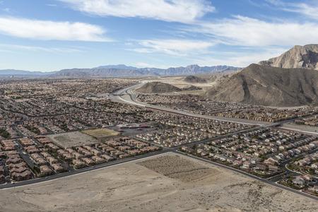 sprawl: Suburban desert sprawl in the Las Vegas suburb of Summerlin.