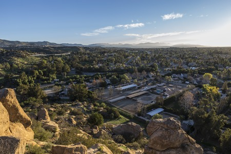 stoney point: Sunrise view from Stoney Point Park in the San Fernando Valley area of Los Angeles, California.