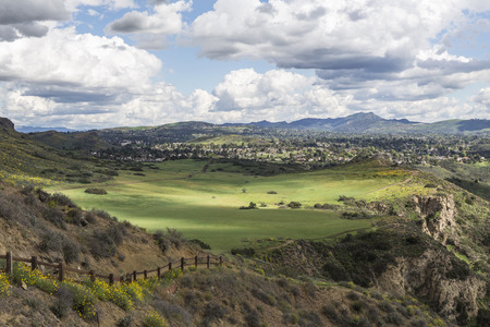Parkland meadows in the Los Angeles area suburb of Thousand Oaks in Ventura County, California.
