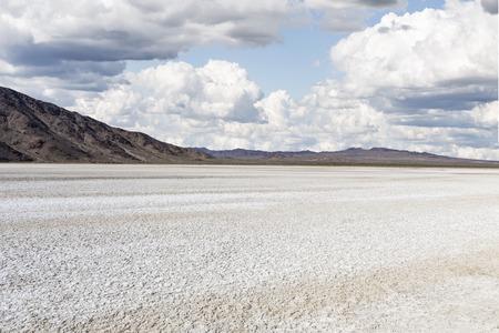 Drought stricken dry lake bed in Californias Mojave Desert National Preserve.