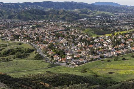 Ventura County Suburban Spring near Los Angeles, California. Stock Photo