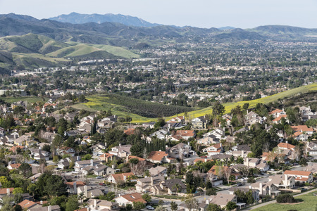Ventura County suburban housing near Los Angeles in Simi Valley.