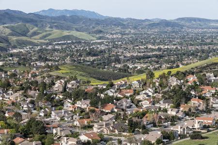Ventura County suburban housing near Los Angeles in Simi Valley.