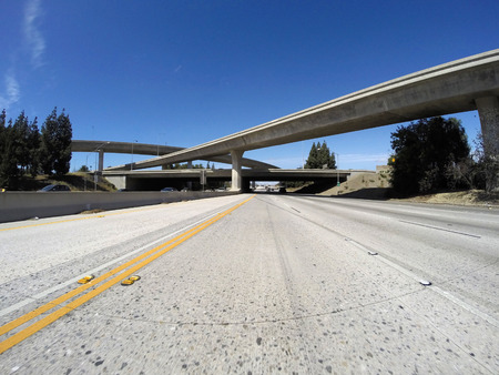 118 and 405 freeway interchange bridges in Los Angeless San Fernando Valley. photo