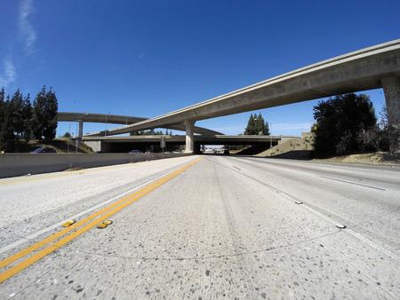 interchange: 118 and 405 freeway interchange bridges in Los Angeless San Fernando Valley.