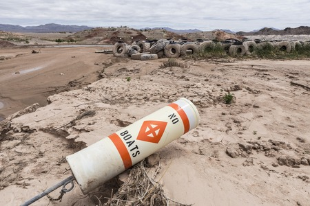 ravaged: Historic low lake levels at Lake Mead in the drought ravaged state of Nevada.