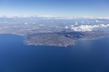 bay: Rancho Palos Verdes aerial near Los Angeles, California.