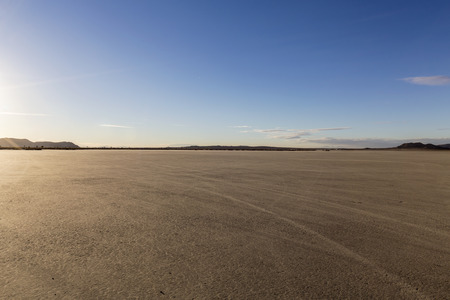 El Mirage dry lake bed in Californias Mojave desert. Stock Photo