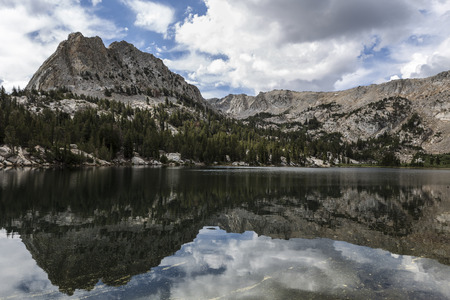 mammoth lakes: Crystal Lake in Mammoth Lakes basin near Yosemite in Californias Sierra Nevada. Stock Photo