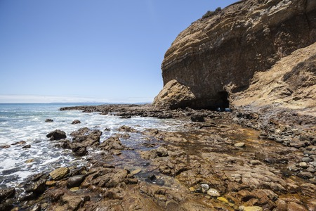 los angeles county: Tidal pools at Abalone Cove near Palos Verdes Estates in Los Angeles County, California.