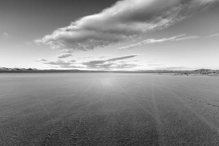 El Mirage dry lake bed in Californias Mojave desert. Stock Photo