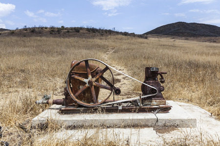 monica: Abandoned rural water well in the Santa Monica Mountains in Southern California.
