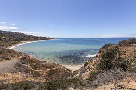 los angeles county: Portuguese Bend Cove in Los Angeles County, California.