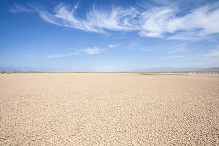 Death Valley area dry lake in Californias Mojave desert.