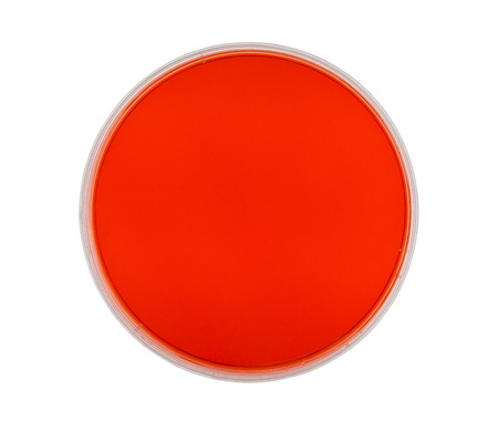 agar: Petri dish with red agar isolated on white with clipping path.