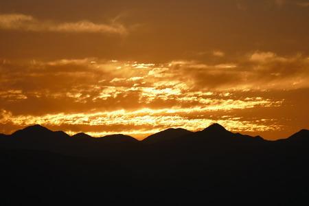 gabriel: Predawn glow behind the San Gabriel Mountains in Southern California.