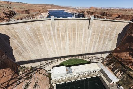 colorado river: Glen Canyon dam on the Colorado River near Page, Arizona.