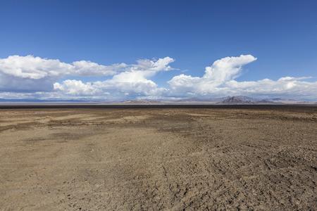 Soda Dry Lake Mud Flats in the Mojave desert near Zzyzx, California.