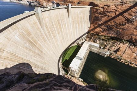 colorado river: Glen Canyon Dam on the Colorado river in the southwestern United States.