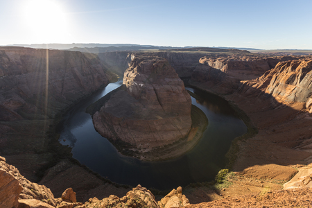 bends: Horseshoe Bend sunset on the Colorado River near Page, Arizona.