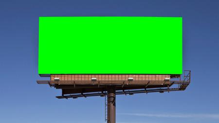 クロマ キーのグリーン スクリーン看板。 ビデオ 4 k 4096 x 2304 ディメンションのサイズ。