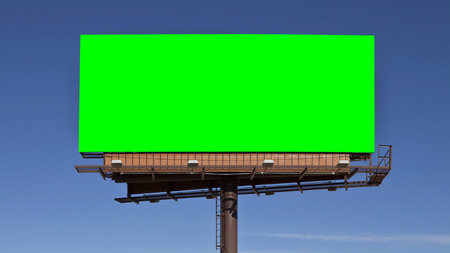 Chroma key groen scherm billboard. Sized om video 4k 4096 x 2304 dimensie. Stockfoto