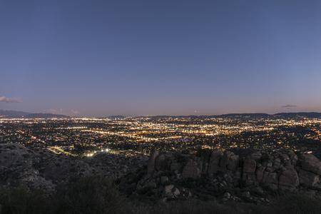 northridge: West San Fernando Valley area of Los Angeles at dusk.
