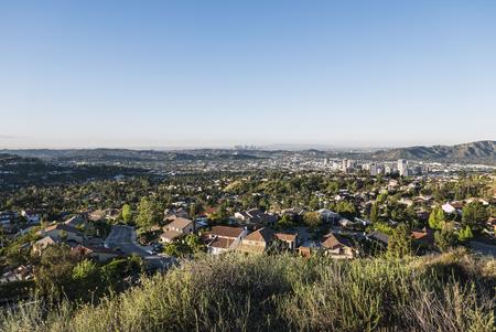 san fernando valley: Glendale California morniing view towards downtown Los Angeles.