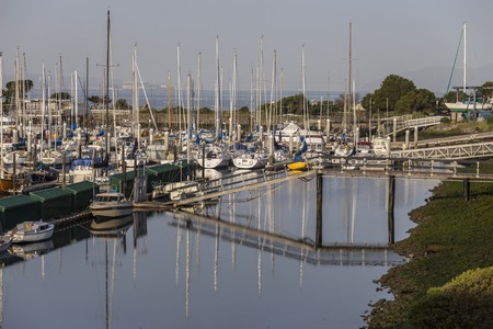 san francisco bay: Berkeley, California, USA - April 26, 2016:  Quiet morning at Berkeley Marina on San Francisco Bay. Editorial