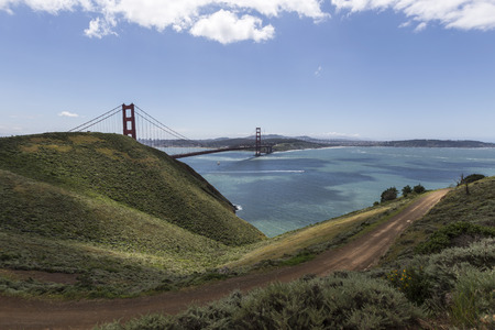 marin: Marin Headlands bridge view hillsides at Golden Gate National Recreation Area
