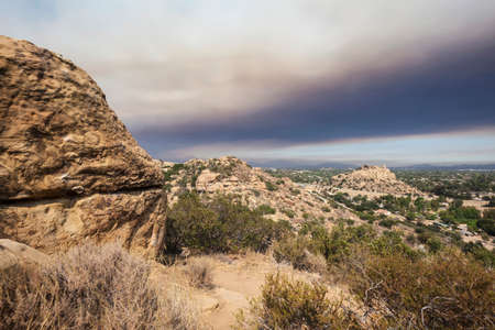 stoney point: Los Angeles wild fire smoke engulfing the Stoney Point and San Fernando Valley.
