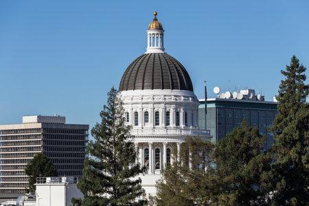 California State Capitol building dome in Sacramento.