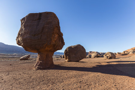 Balanced rock near Lees Ferry Road at Glen Canyon National Recreation Area in Northern Arizona.
