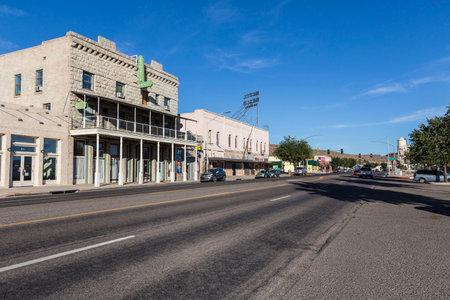 Kingman, Arizona, USA - October, 19, 2016:  Historic buildings on Route 66 in Kingman, Arizona.