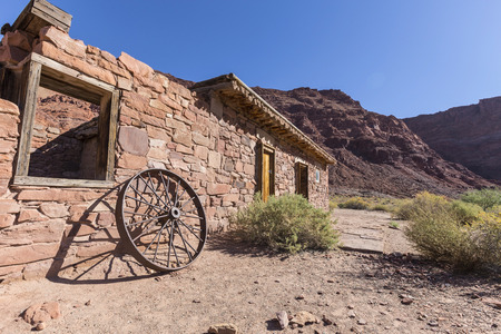 recreation area: Historic Lees Ferry ruin near the Colorado River at Glen Canyon National Recreation Area in Arizona.