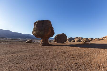 balanced: Balanced rock near Lees Ferry Road in Northern Arizona.