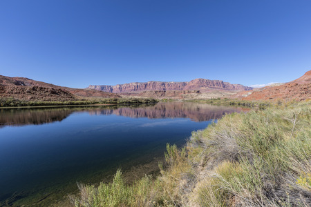 Colorado river near Lees Ferry at Glen Canyon National Recreation Area in Northern Arizona.