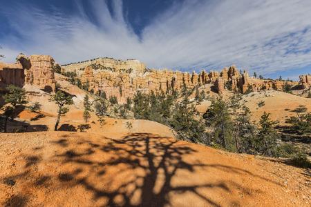 View of Hoodoos in Bryce Canyon National Park in Southern Utah.