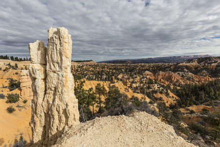 hoodoo: Hoodoo view at Bryce Canyon National Park in Southern Utah