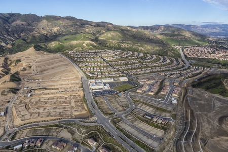porter house: New neighborhood construction in the Porter Ranch area of Los Angeles, California.