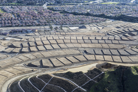 suburban neighborhood: New home sites in the Porter Ranch neighborhood in the City of Los Angeles, California.