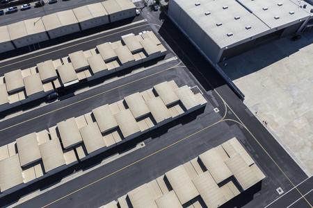 Small aircraft hangars at municipal airport.