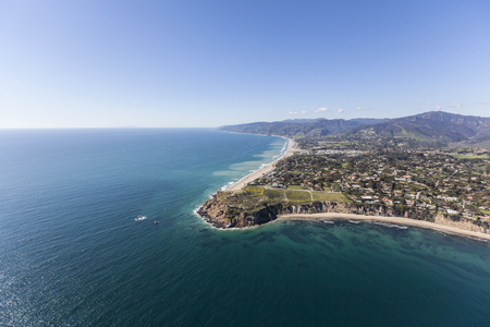 zuma: Aerial view of Point Dume beaches in Malibu, California.