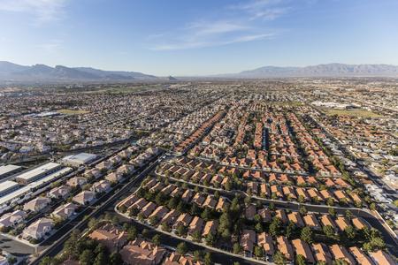 suburban neighborhood: Aerial view of suburban neighborhood sprawl in Las Vegas, Nevada.