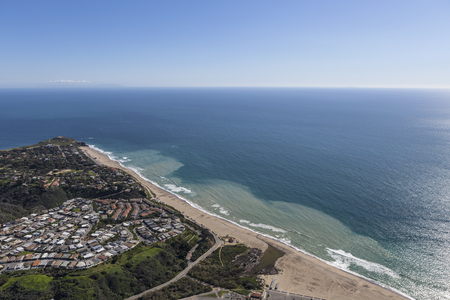 zuma: Aerial view of Westward Beach, Point Dume and Zuma Beach in Malibu, California.