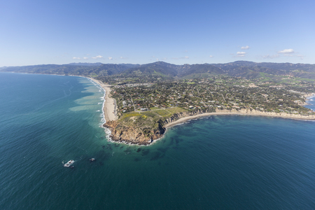 zuma: Aerial view of Point Dume State Park in Malibu, California. Stock Photo