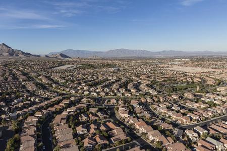 Aerial view of modern homes in the Summerlin area of Las Vegas, Nevada. Reklamní fotografie - 81420823