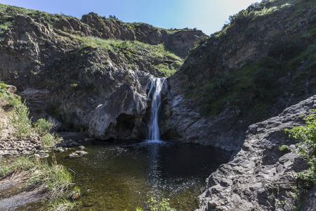 Paradise Falls at Wildwood Regional Park in Thousand Oaks, California.