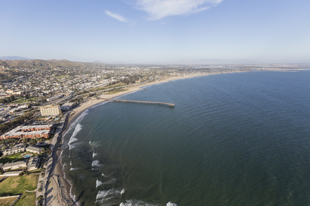 Ventura county coast aerial in Southern California. Stock Photo