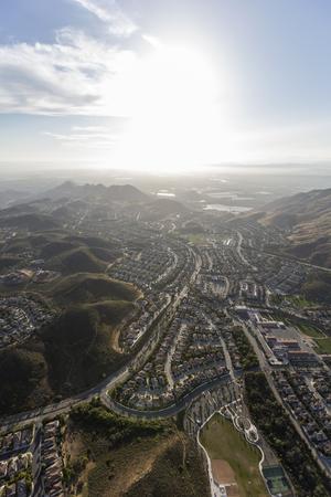 thousand: Aerial view of Newbury Park in Ventura County, California. Stock Photo